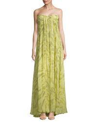 Halston Heritage - Multicolor Sweetheart Silk Dress - Lyst
