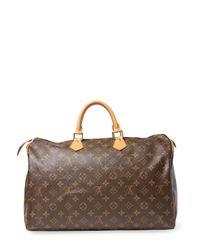 Louis Vuitton - Brown Vintage Monogram Ab Speedy40 Satchel - Lyst