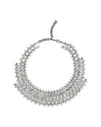 Uno De 50 - Metallic Boomerang Collar Necklace - Lyst