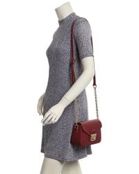 Longchamp - Red Le Pliage Heritage Xs Leather Crossbody - Lyst