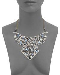 Alexis Bittar - Metallic Crystal-encrusted Bib Necklace - Lyst