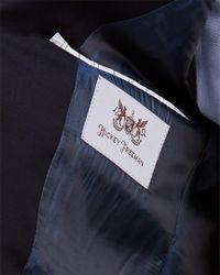 Hickey Freeman Blue Milburn Ii Wool Sportcoat for men