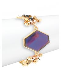 Nocturne - Purple Faceted Pendant Cuff - Lyst