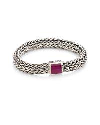 John Hardy - Red Batu Classic Chain Medium Ruby & Sterling Silver Bracelet - Lyst