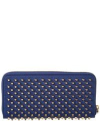 Christian Louboutin - Blue Panettone Leather Zip Around Wallet - Lyst