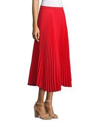 Delfi Collective - Red Clara Pleated Midi Skirt - Lyst