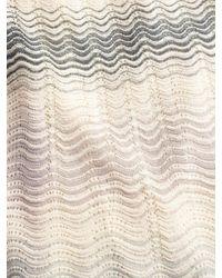 M Missoni - Natural Zig-zag Striped 3/4 Sleeve Dress - Lyst