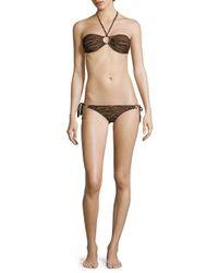Melissa Odabash - Multicolor Two-piece Animal-print Halter Bikini - Lyst