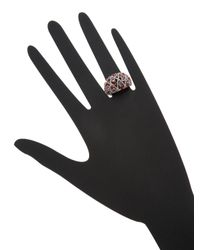 Rina Limor - Metallic Sterling Silver, Sapphire & 0.10 Total Ct. Diamond Lattice Dome Ring - Lyst