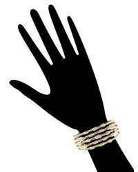 David Yurman - Metallic Vintage 18k Yellow Gold & 0.55 Total Ct. Diamond Confetti Wide Cuff Bracelet - Lyst