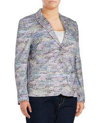Basler - Multicolor Textured Cotton-blend Three-button Jacket - Lyst