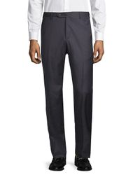 Zanella - Blue Classic Wool Pants for Men - Lyst