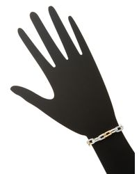 Gurhan - Metallic Silver & Gold Rectangle Chain Bracelet - Lyst