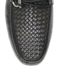Ferragamo - Black Leather Carlo Buckle Loafers for Men - Lyst