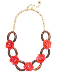 Kate Spade - Multicolor Rosie Posies 12k Plated Link Necklace - Lyst