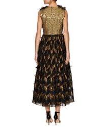 Dolce & Gabbana - Black Silk Colorblocked Trim A Line Dress - Lyst