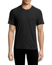 James Perse - Black Woven T-shirt for Men - Lyst