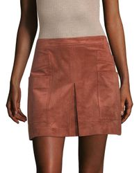 BCBGMAXAZRIA - Multicolor Faux Suede Mini Skirt - Lyst