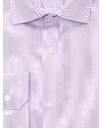 Vince Camuto - Purple Pinstripe Twill Slim Fit Cotton Dress Shirt for Men - Lyst