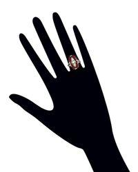 Estate Fine Jewelry - Multicolor Art Deco Carnelian Ring - Lyst
