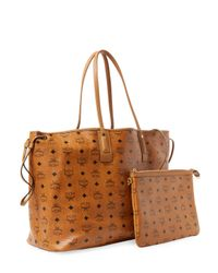 MCM - Brown Tote Leather Bag - Lyst
