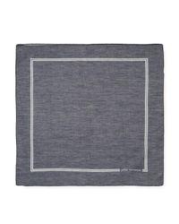 John Varvatos - Blue Signature Cotton Pocket Square for Men - Lyst