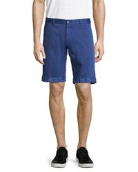 Etro - Blue Cotton Printed Shorts for Men - Lyst