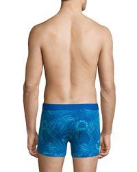 Papi Underwear - Blue Oasis Stretch Boxer Brief for Men - Lyst