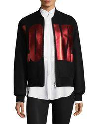 Givenchy - Multicolor Veste De Moto Crop Love Bomber Jacket - Lyst