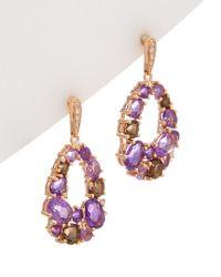 Effy - Multicolor Fine Jewelry 14k Rose Gold 4.52 Ct. Tw. Diamond & Gemstone Drop Earrings - Lyst