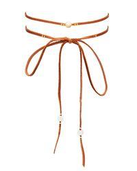 Chan Luu - Multicolor Cultured Pearl & Leather Choker - Lyst