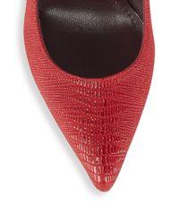 Stuart Weitzman - Nouveau Textured Leather Pumps - Lyst