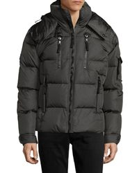 Sam. | Gray Quilted Hooded Puffer Jacket for Men | Lyst