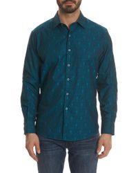 Robert Graham - Blue Classic Fit Elwood Woven Shirt for Men - Lyst