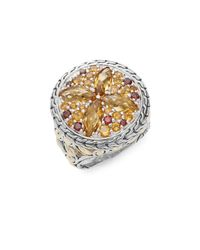 John Hardy - Metallic Batu Kawung Citrine, Garnet, Spessartine, 18k Yellow Gold & Sterling Silver Ring - Lyst