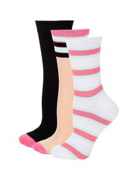 Lyst - Juicy Couture Three-pack Sheer Crew Socks in Black for Men 40e089491