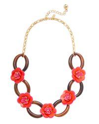 Kate Spade - Multicolor Rosie Posies Link Necklace - Lyst
