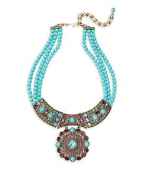 Heidi Daus - Blue Turquoise Crystals Necklace - Lyst