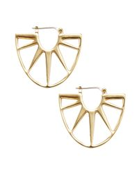 Trina Turk - Metallic Sunburst Small Hoop Earrings - Lyst