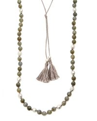 Chan Luu - Multicolor Agate Station Necklace - Lyst