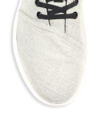TOMS - Gray Del Rey Chevron & Herringbone Wool Sneakers for Men - Lyst