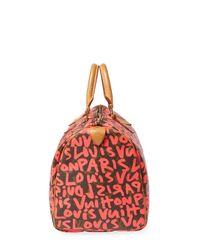 Louis Vuitton - Vintage Pink Sprouse Ab Speedy 30 Satchel - Lyst