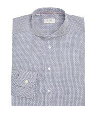 Eton of Sweden - Gray Micro Print Slim Fit Shirt for Men - Lyst