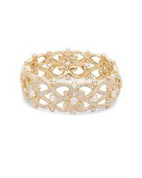 Adriana Orsini - Metallic Cubic Zirconia Celtic Knot Bracelet - Lyst