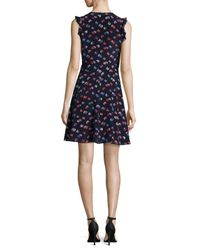 Rebecca Taylor - Blue Silk A-line Dress - Lyst