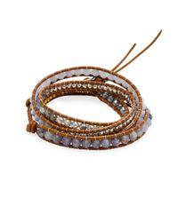 Chan Luu - Multicolor Sterling Silver & Iolite Stone Wrap Bracelet - Lyst