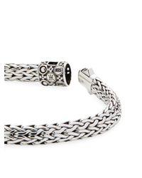 John Hardy - Metallic Dot Two-tone Woven Chain Bracelet - Lyst