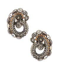 Heidi Daus - Metallic Crystal Paisley Earrings - Lyst