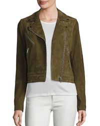 Rag & Bone - Green The Mercer Suede Jacket - Lyst