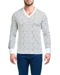 Maceoo - Multicolor V-neck Tetris Sweater for Men - Lyst